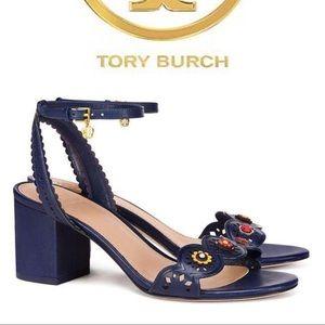 7f8de2bd082d9 NEW Tory Burch Marguerite Perforated Sandal Sze 11
